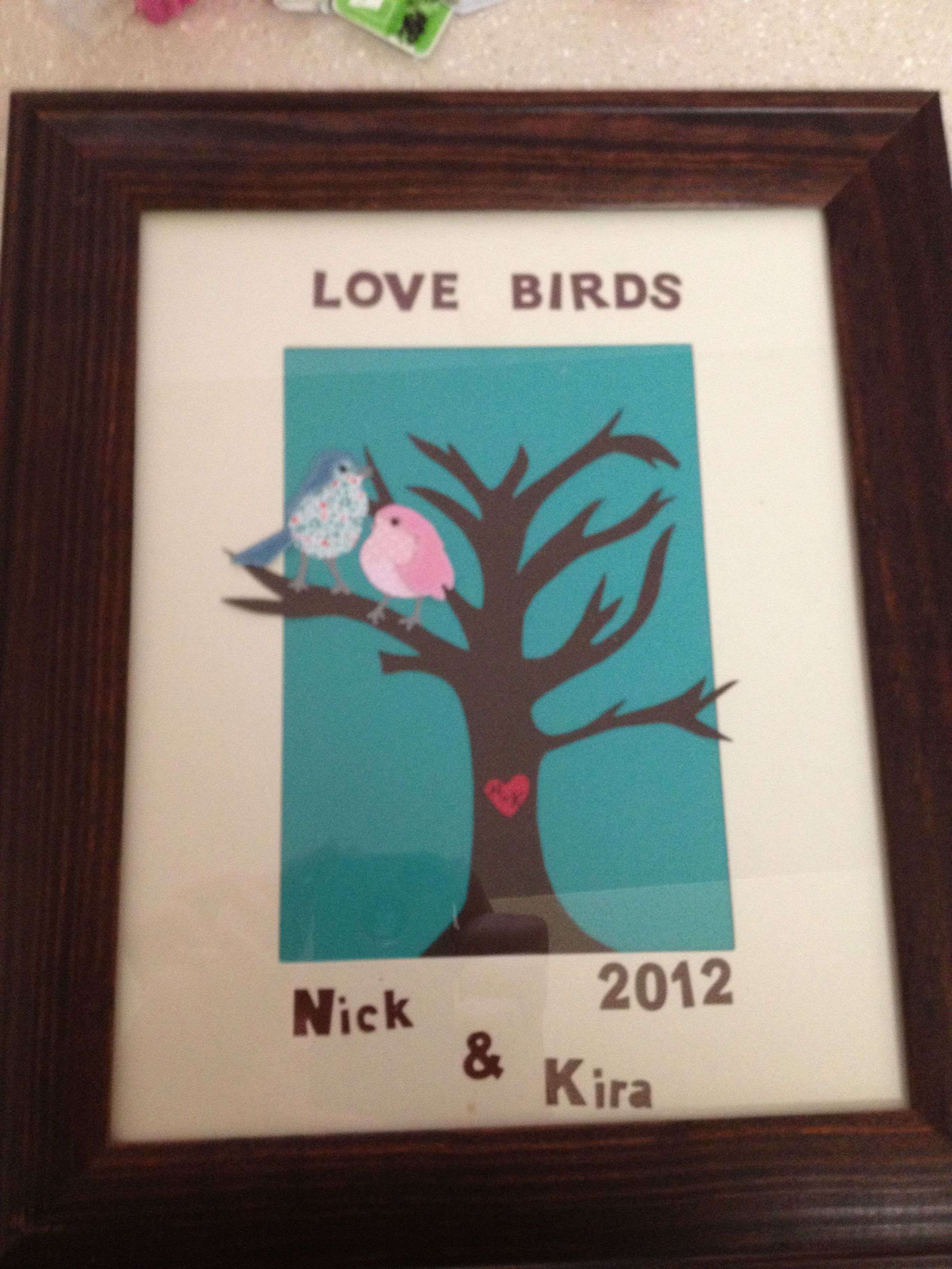 Lovebirds Easy Homemade Wedding Gift