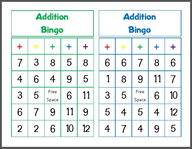 photo relating to Addition Bingo Printable identify Printable Addition Bingo homeschool-math Math addition