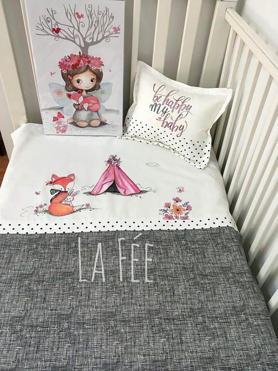 Ensemble De Literie Pour Bebe Renard Et Tipi Fleur Bedding Sets