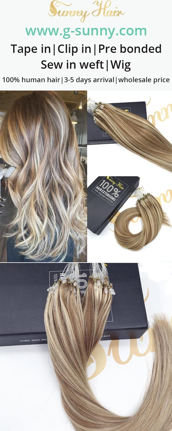 Sunny Hair Brown And Blonde Hair Extensions Micro Ring G Sunny