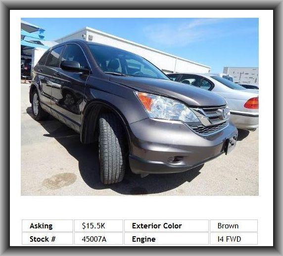 2010 Honda CR V EX SUV Door Pockets: Driver, Cloth Seat Upholstery,