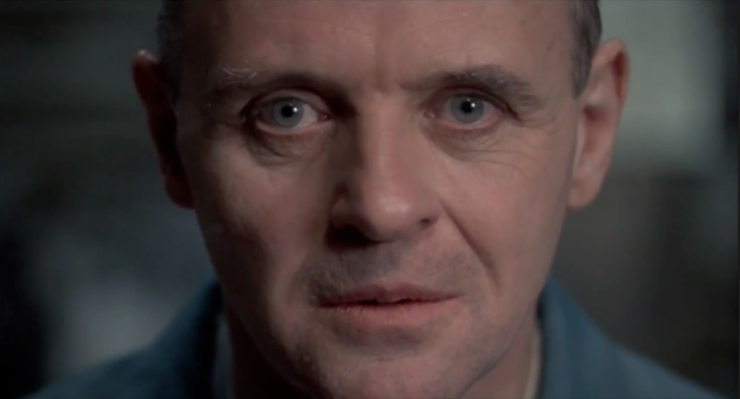 The use of eyelines and framing to establish dominance -great examples from The Silence of the Lambs