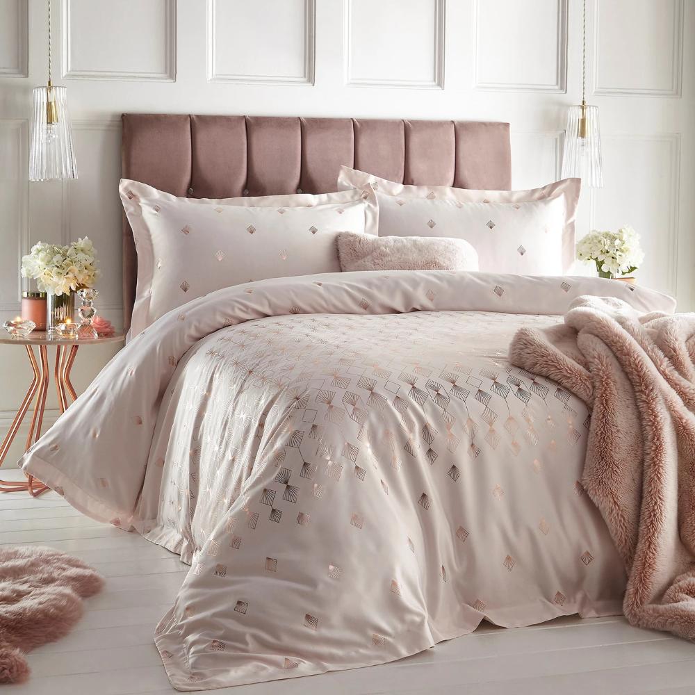 Next Floral Flower Dusky Pink Cream 2 Duvet Cover Pillowcases Bedroom Bed Sets