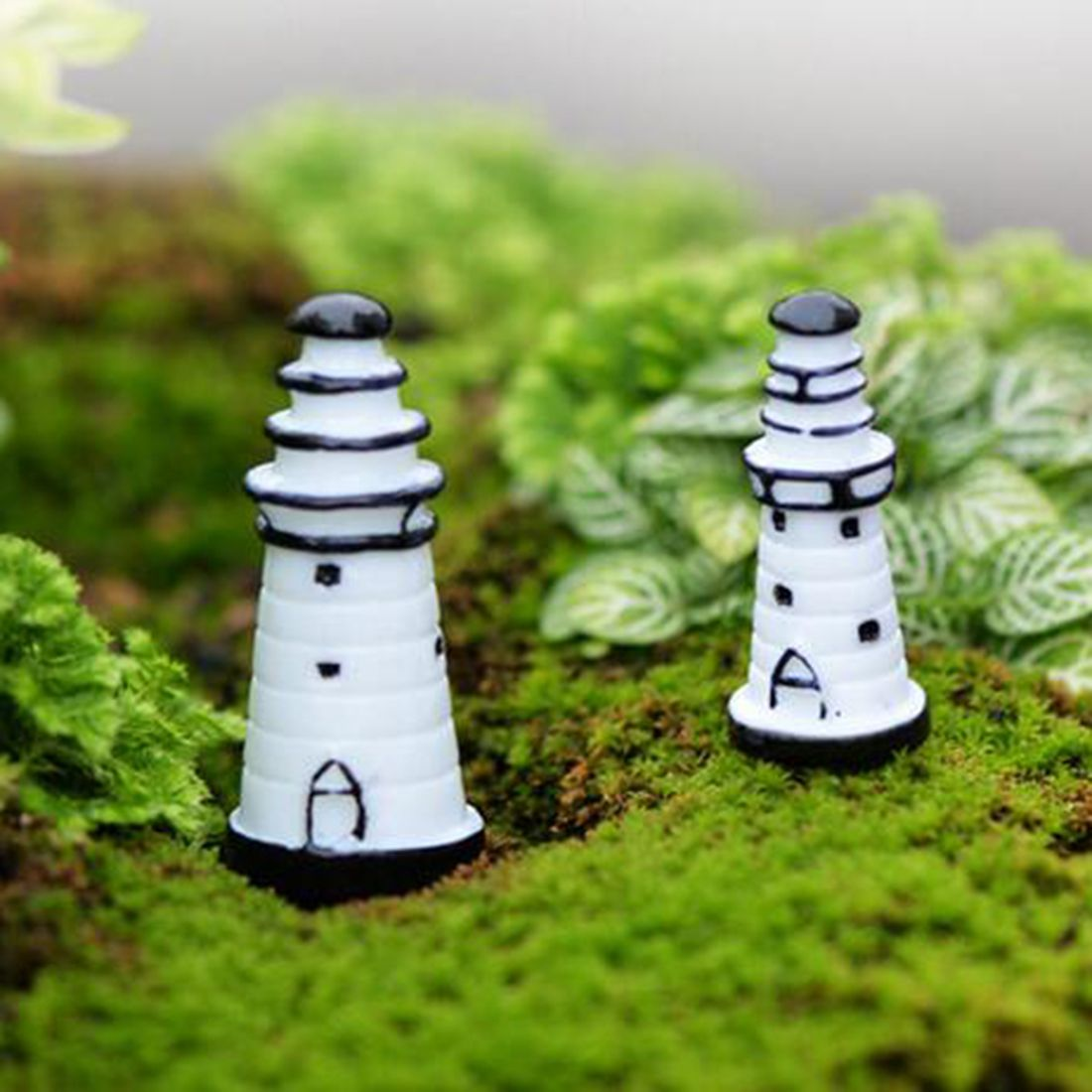 Mini Cute Resin Solid Lighthouse Ornaments Micro Landscape Ornaments ...