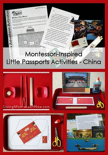 Today, I'm going to share some Montessori-inspired activities that work well with the Little Passports China package.
