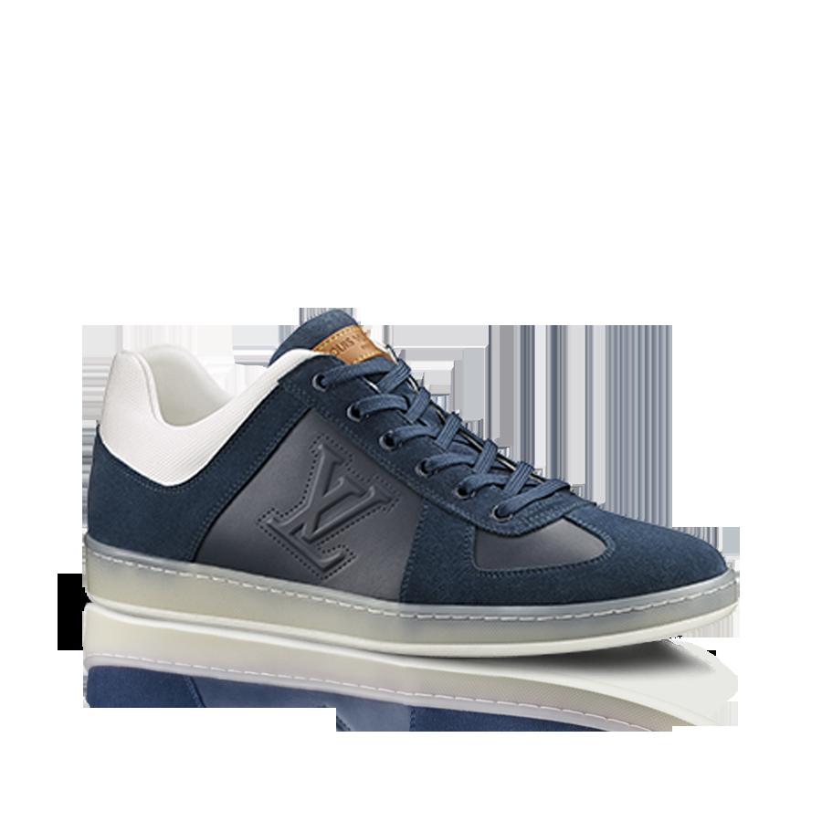 e933402f9497 Sneaker montant Offshore en patchwork de cuirs via Louis Vuitton Chaussures  De Ville, Chaussures De