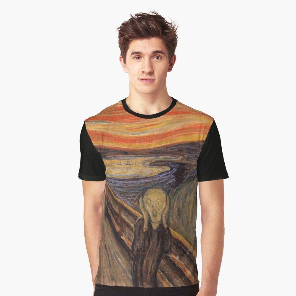Camiseta Grafica El Grito De Munch De Arkitekta Personalized T Shirts Classic Art Cool T Shirts