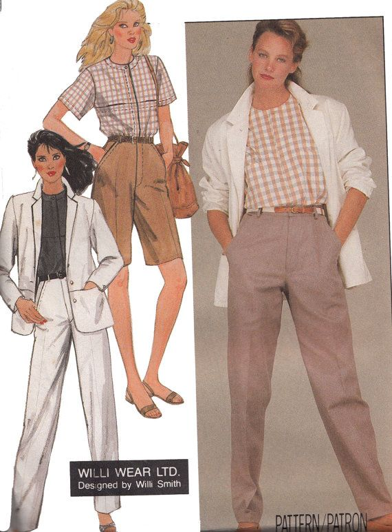 Willi Wear 80s Pants Shorts Loose Top & Jacket UNCUT Vintage ...