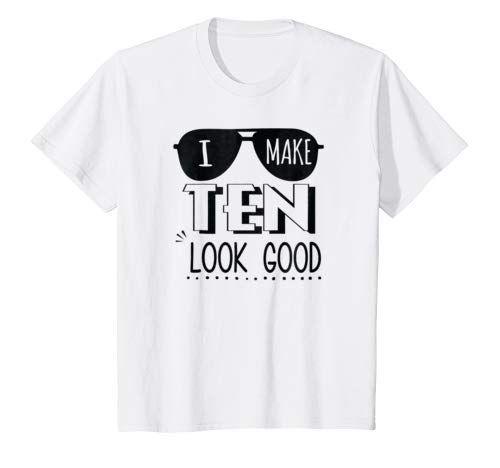 Kids 10 Year Old Shirt 10th Birthday I Make Look