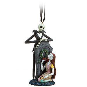 Disney Sally and Jack Skellington Ornament