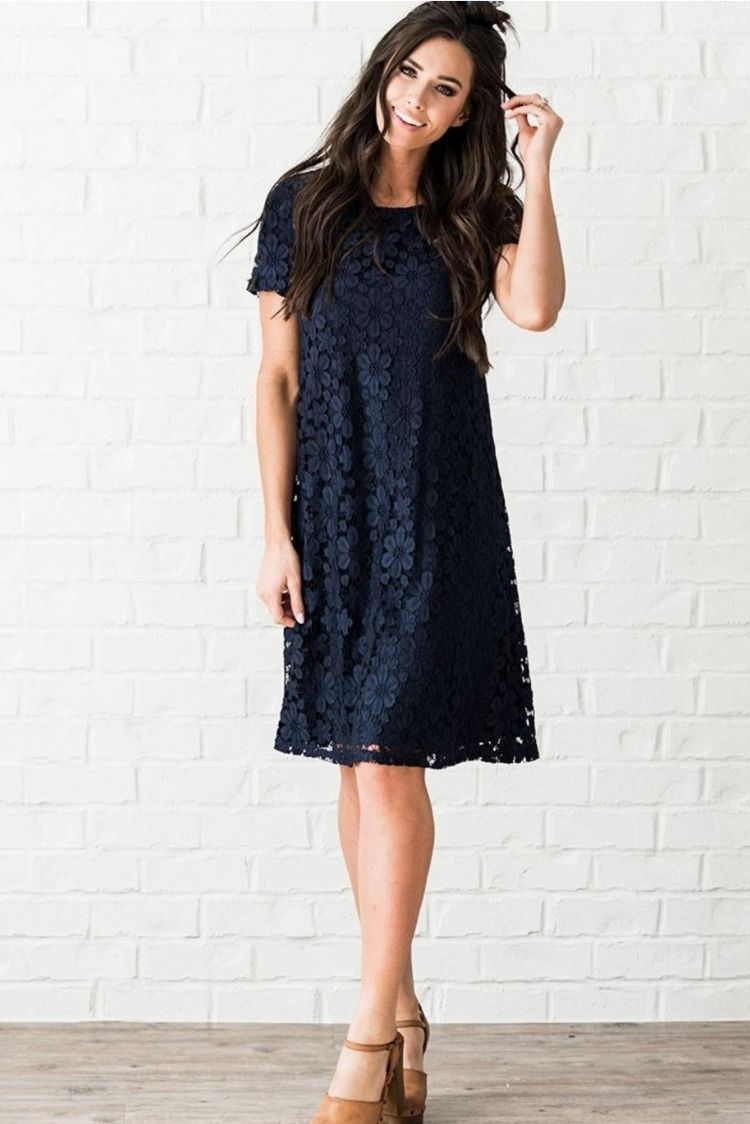 d36601151fbb Short sleeve shift style dress, lace and fully lined. #modest #modesty#modestfashion#lacedresses#modli