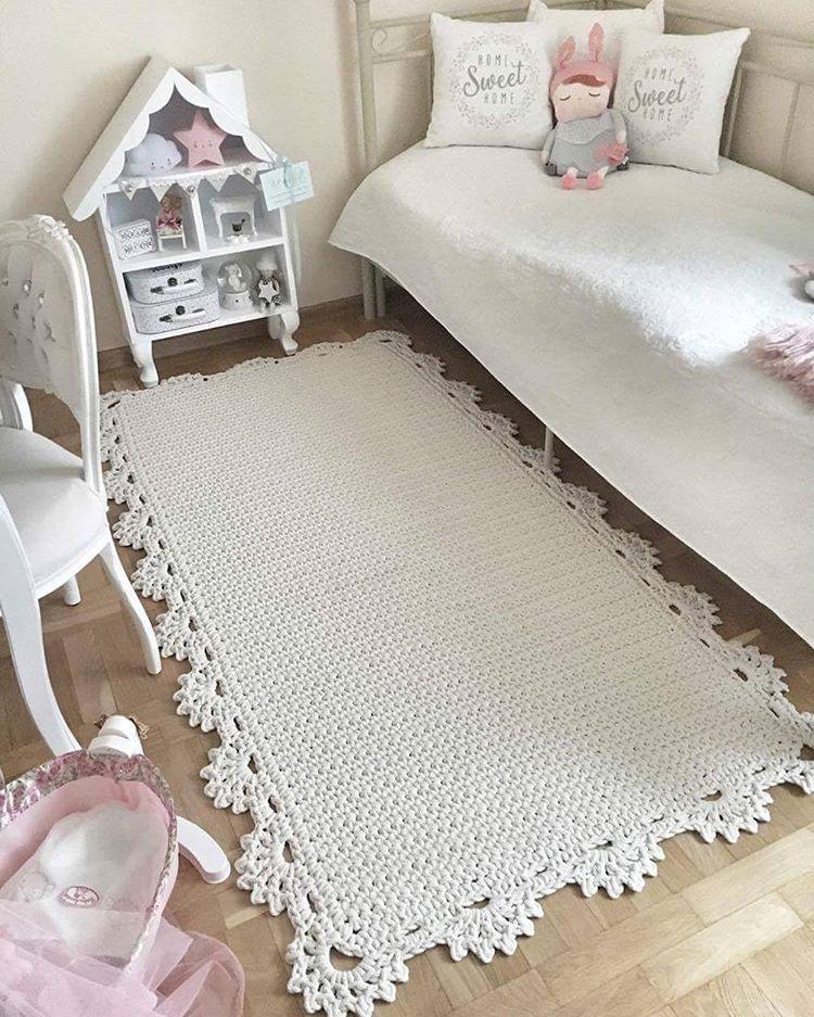 Bajada de cama tejido a crochet | Paloma | Pinterest | Camas ...