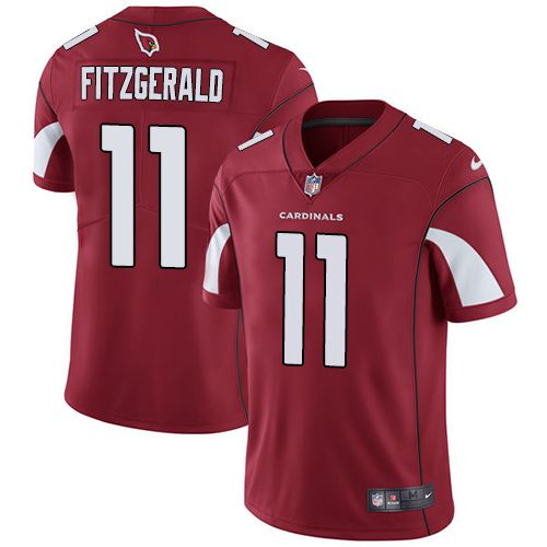 nike cardinals 11 larry fitzgerald red team color mens stitched nfl vapor untouchable limited jersey