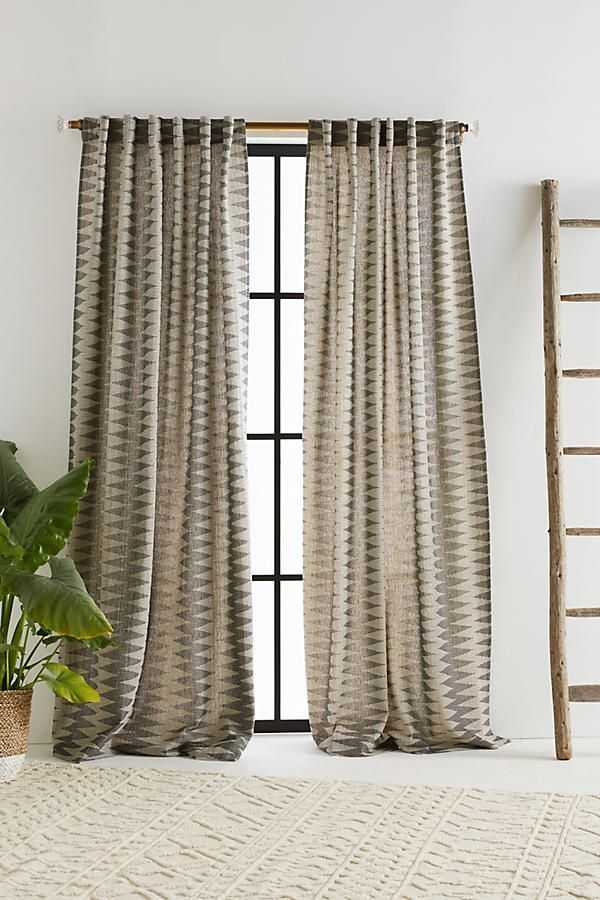 Dita Jacquard Curtain Panel 96 L By Anthropologie Home