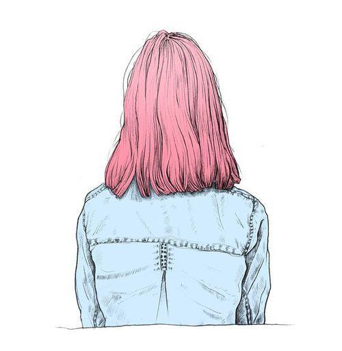 Dibujo de nia de espaldas  imagenes  Pinterest  Dibujo de