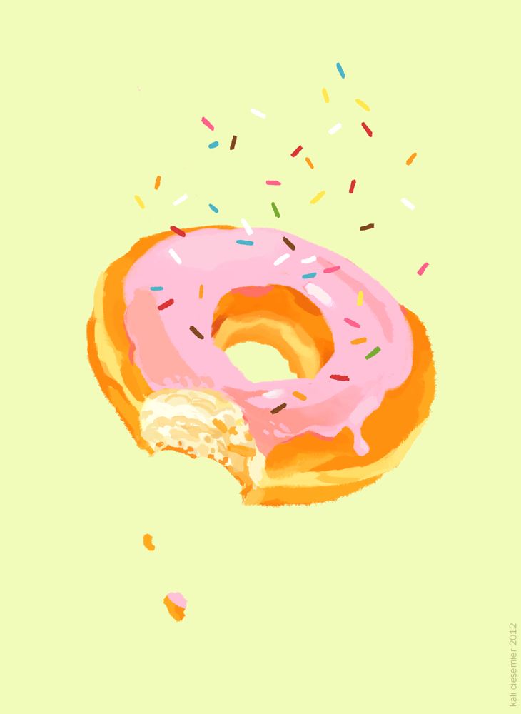 KALI CIESEMIER Donut art, Donut drawing
