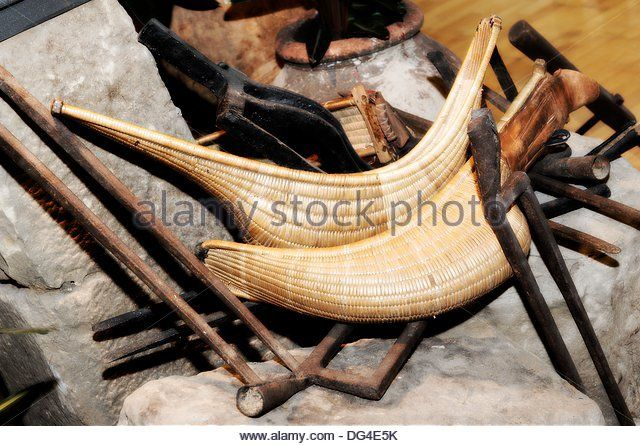 Implements of husbandry and Jai Alai, Spain - Stock Image