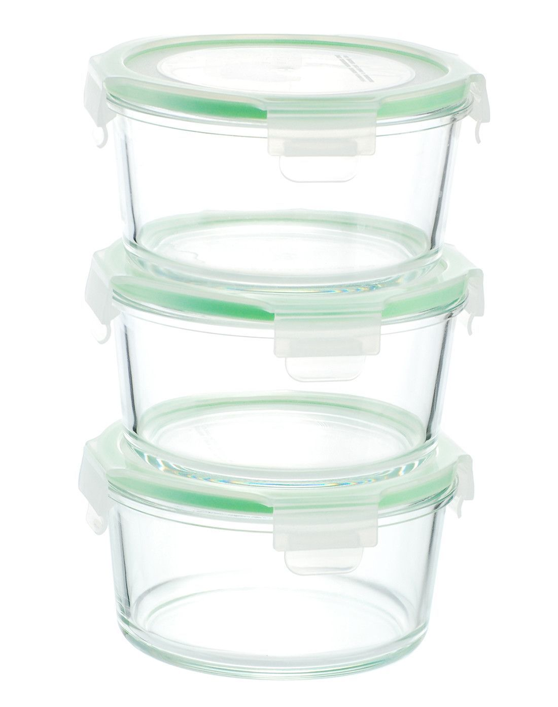 Glasslock Food Storage Container Sets Gogreen Glassworks 3 Container Food Storage Set  Food Storage