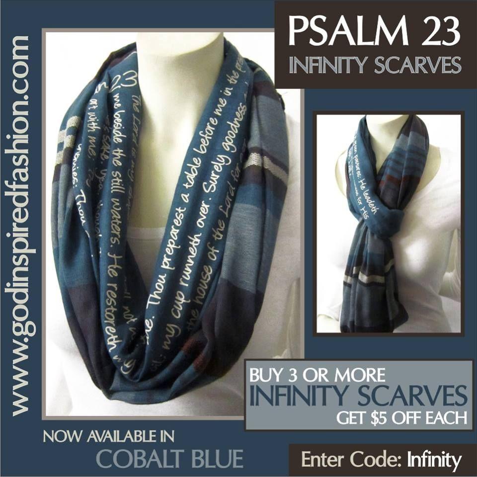 #Psalm23 #InfinityScarves #Godinspiredfashion