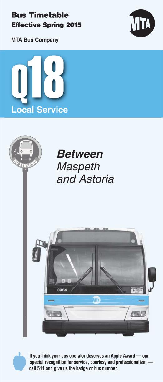 Queens Bus Schedules: Q18 | Bus Schedules | Schedule, Queen on