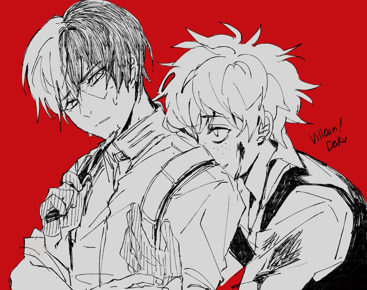 Bnha Izuku Villain Todoroki Villain Deku Hero Academia Characters My Hero Academia Shouto