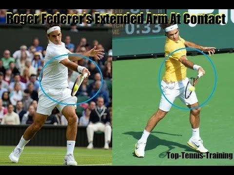 Tennis Forehand Technique Bend Or Extend At Contact Tennis Forehand Tennis Sports Goal