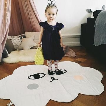 Cloud Shape Smile Print Carpet Kids Playmats Baby Kids