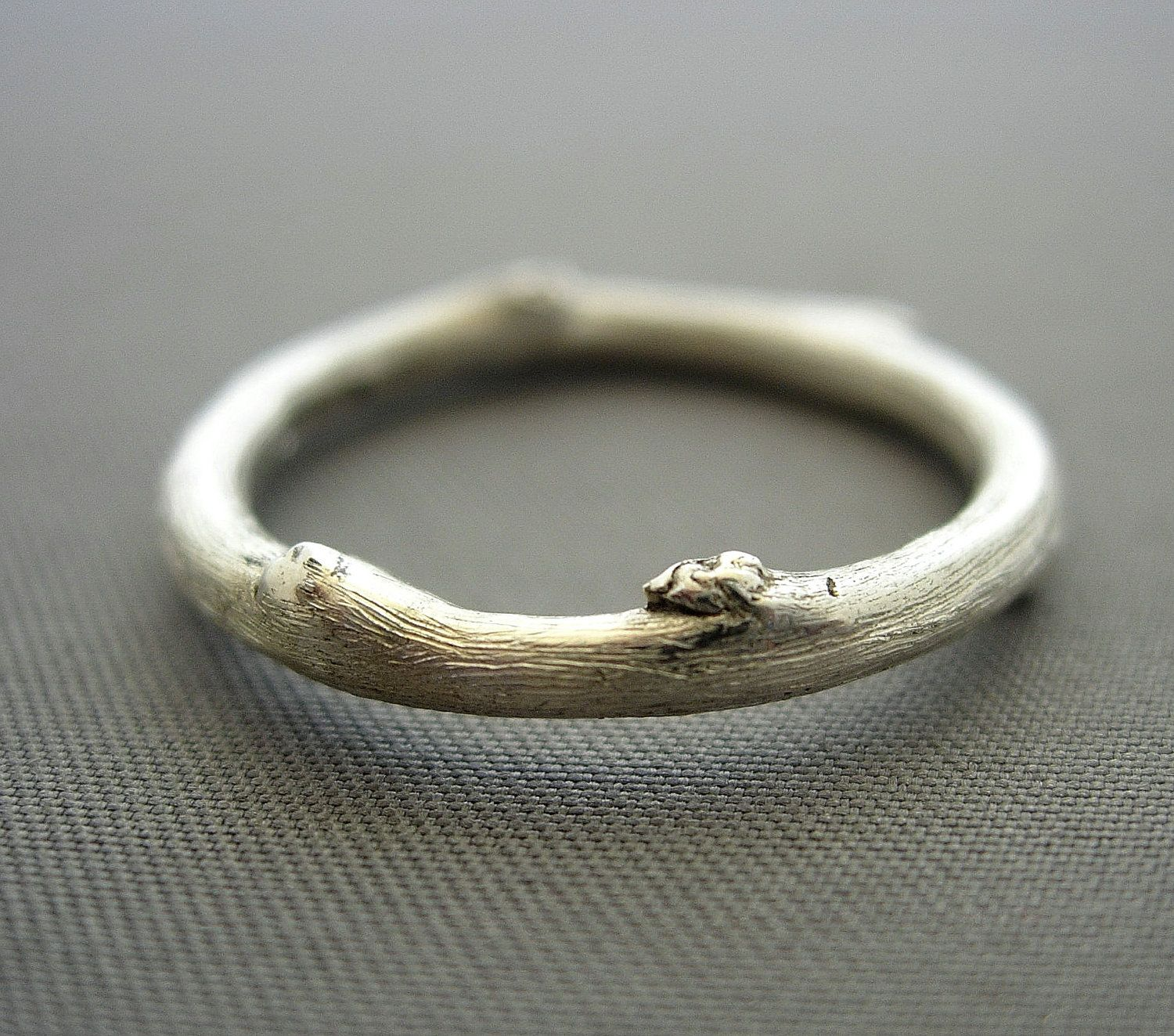 silver twig ring 1633000 via etsy weddings rings
