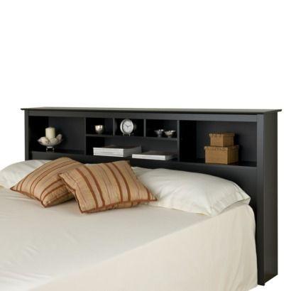 Prepac Storage Headboard - Black (King) Home Pinterest Storage