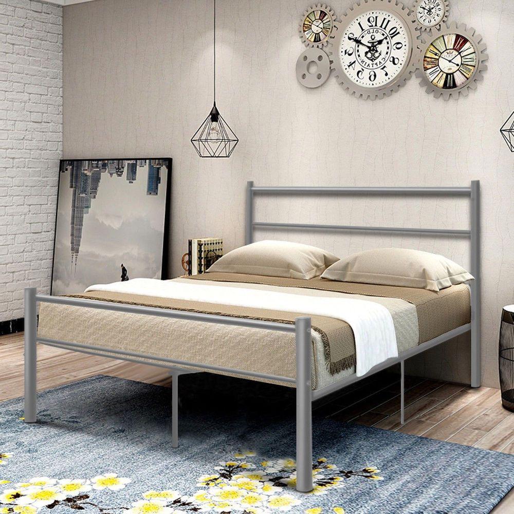 Pin By Putu Sita On White Bedroom White Metal Bed White Bed