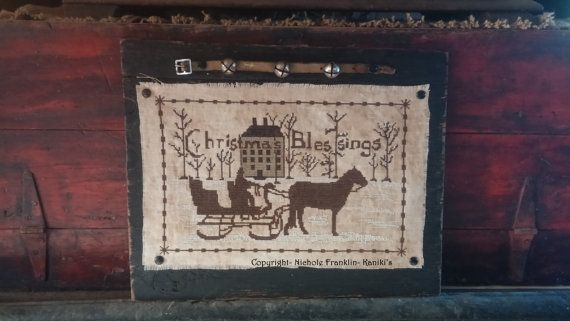 Christmas Blessings Horse And SleighCross Stitch by Kanikis