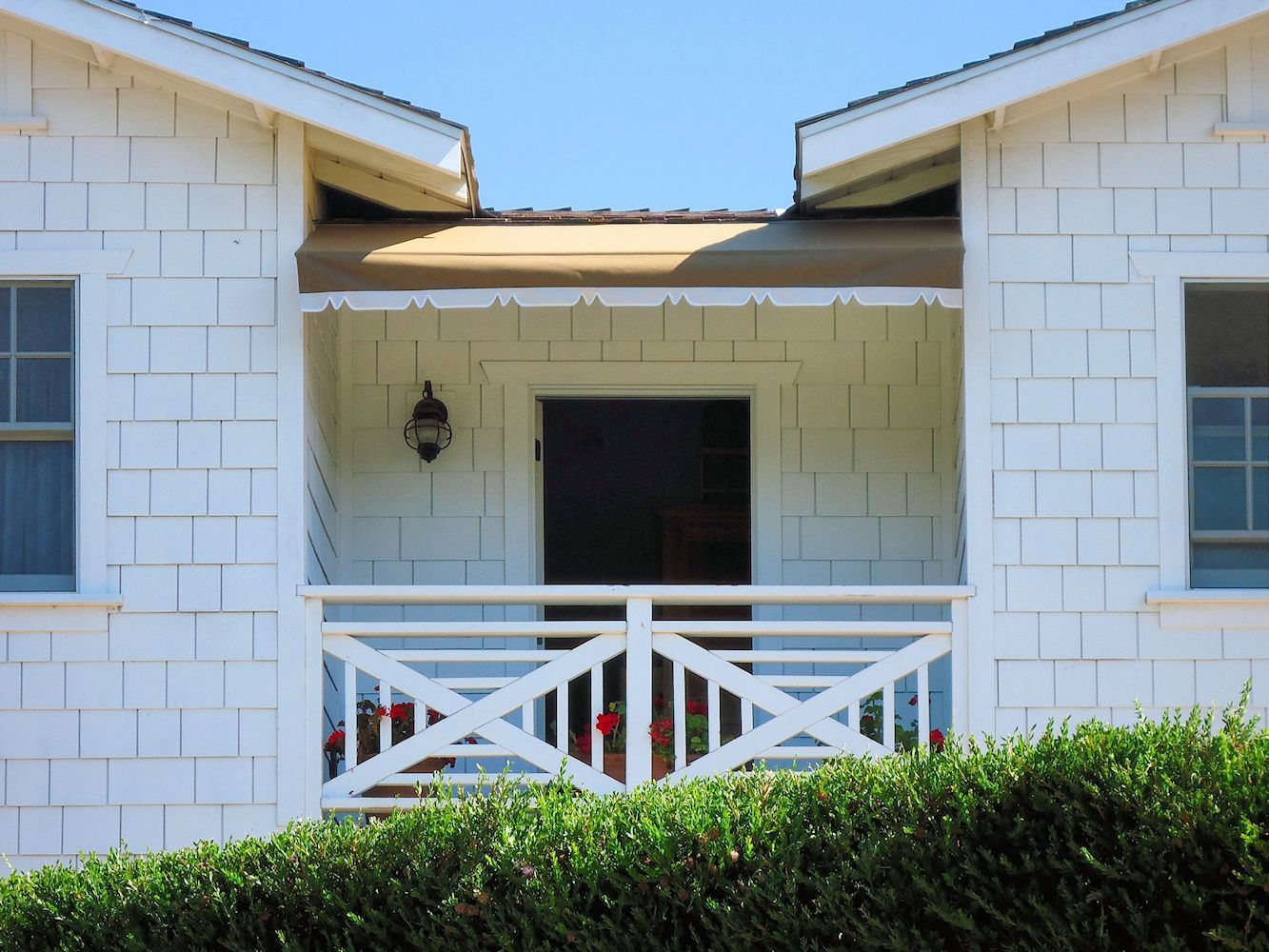 Beach Cottage Awning With Two Toned Valance By Superior