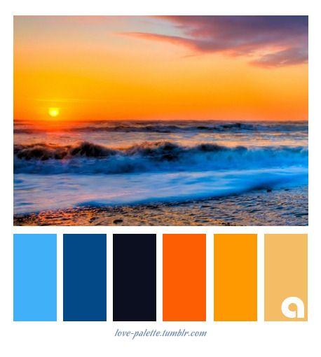 Tropical Beach Color Palette: Sunset Color Palette , Color