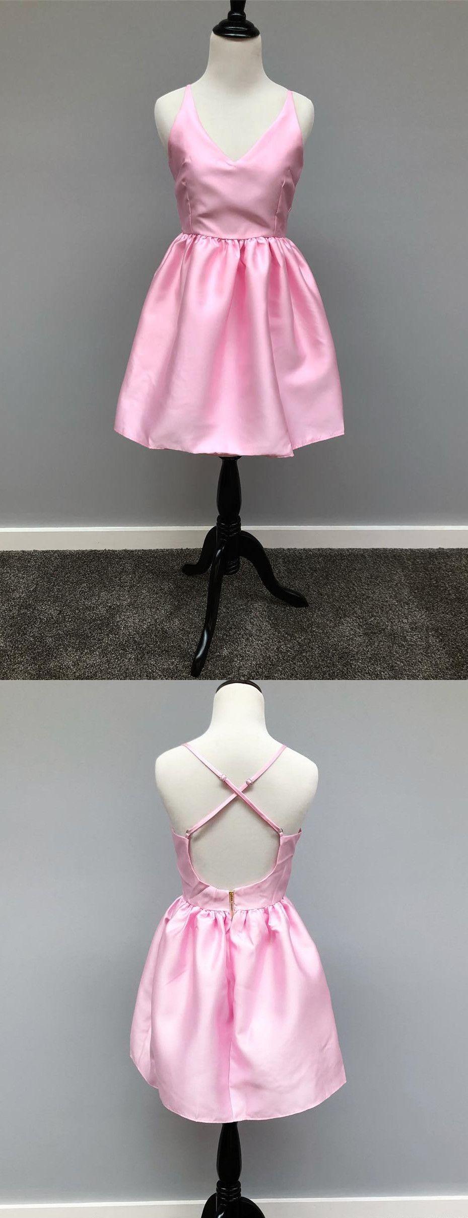 Simple Short A-line Navy Blue Homecoming Dress with Criss Cross Back #navyblueshortdress
