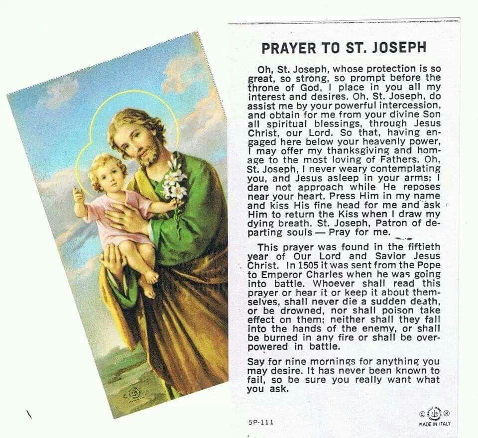 Daily Devotions To Saint Joseph