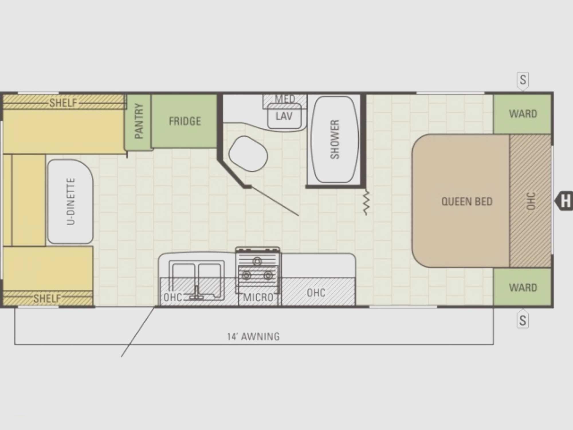 Luxury Cargo Trailer Camper Conversion Floor Plans Rv