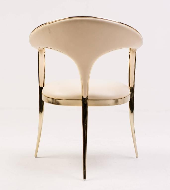 Brass Vidal Grau Cosmos Chairs In Nappa Leather 6