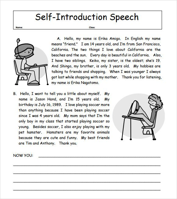 Introduction Letter Self Speech Sample Essay Resume Ielts Writing