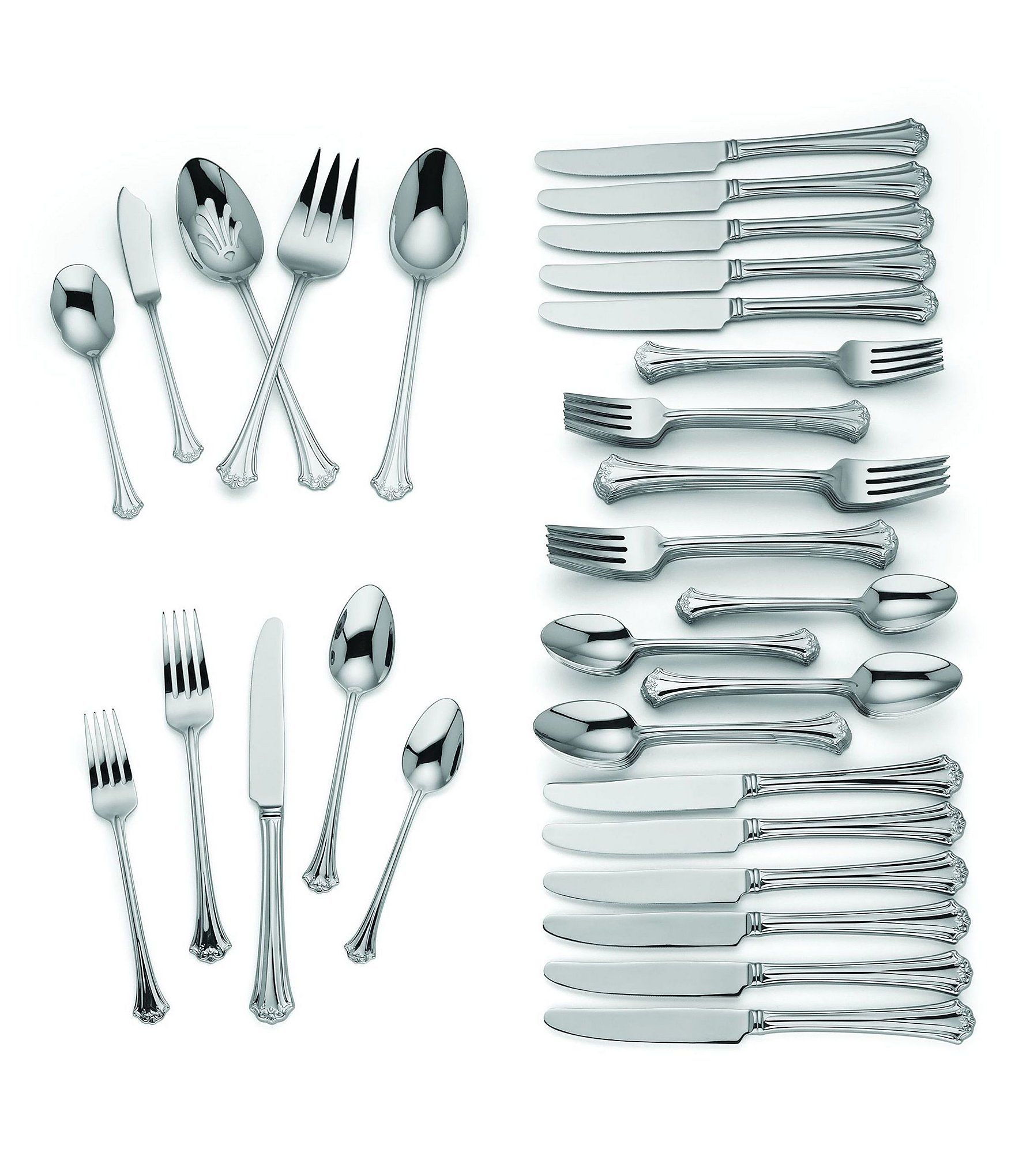 Reed Barton French Classic 65 Piece Stainless Steel Flatware Set Dillard S Stainless Steel Flatware Flatware Set Reed Barton
