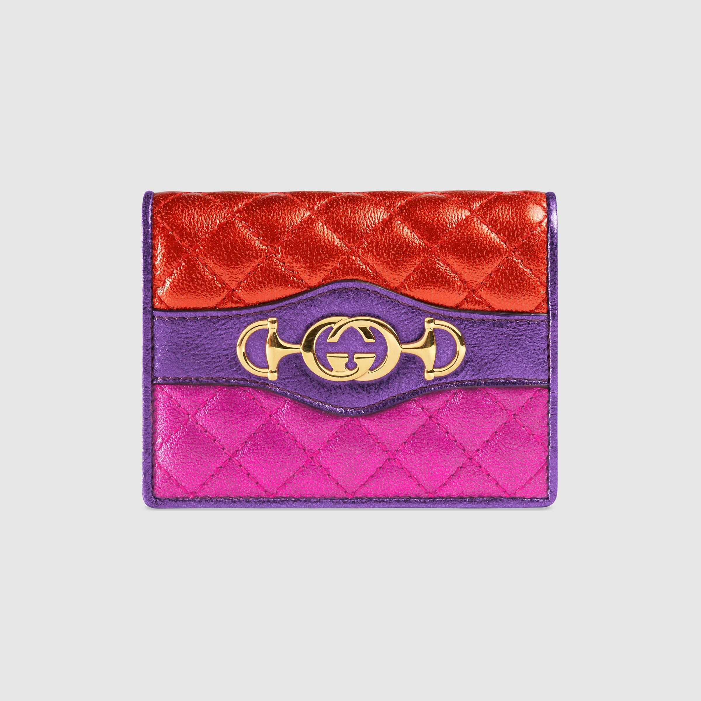 ad39285b81ea Laminated leather card case - Gucci Gifts for Women 5363530U1OC6486