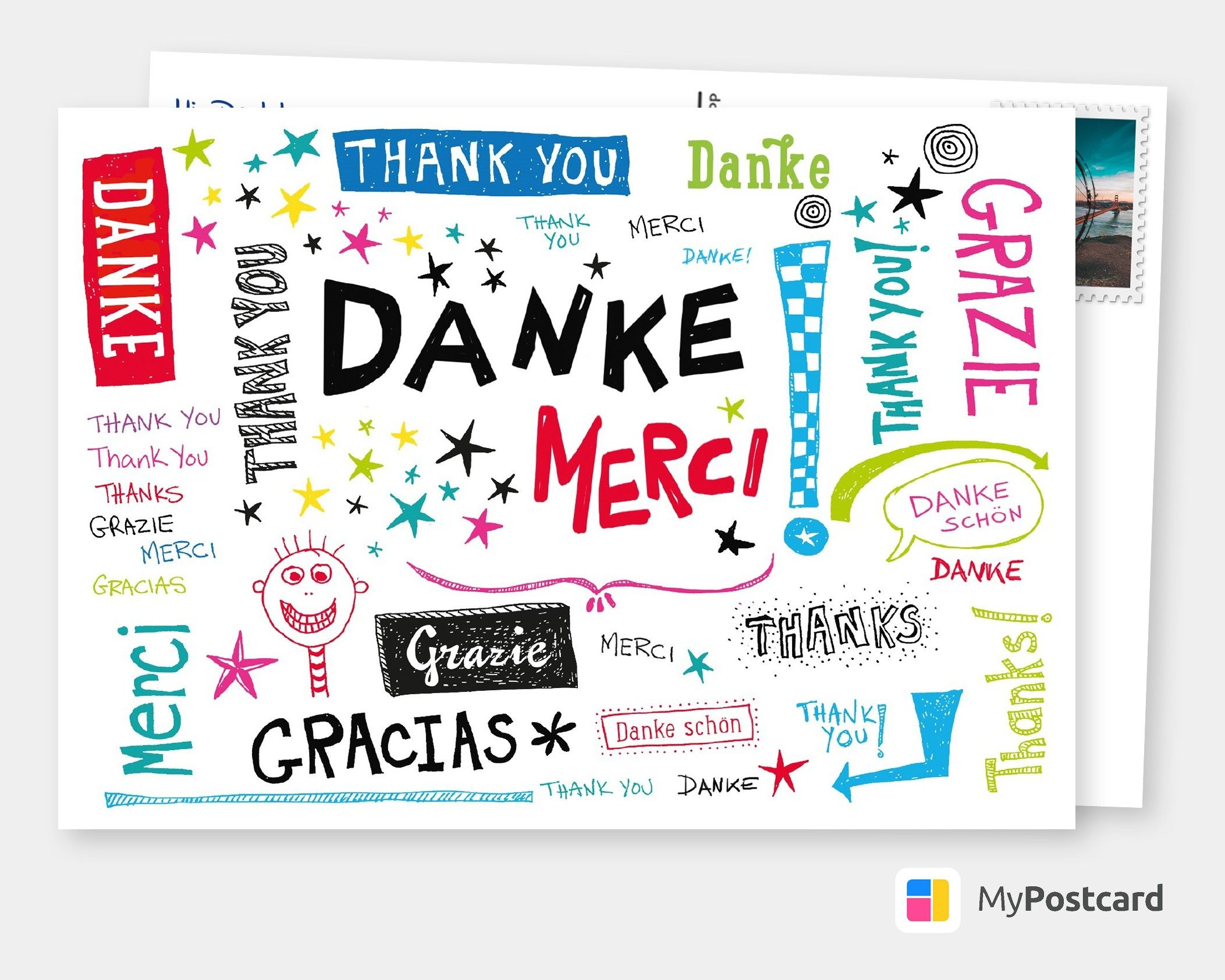 Danke Aus Aller Welt With Images Thank You Postcards Thank