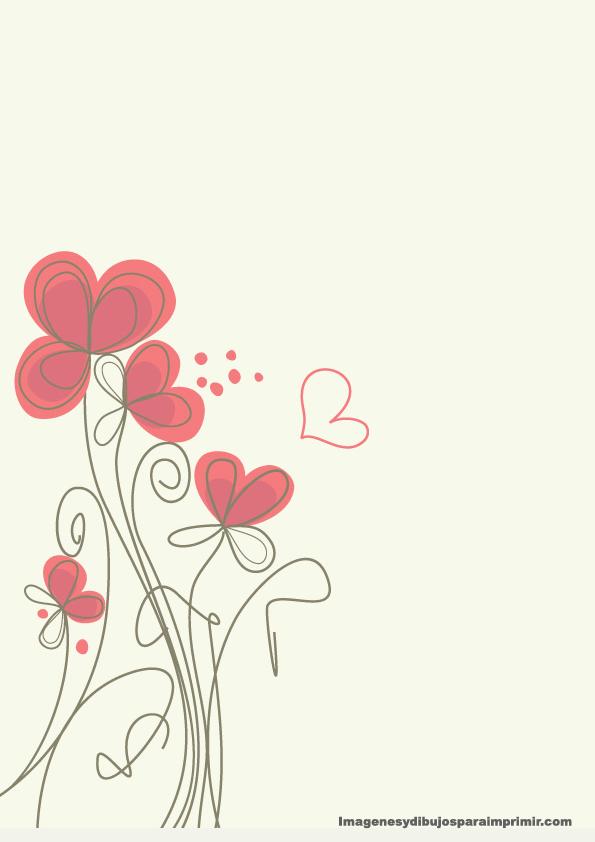 Flores Rojas En Hojas Caratulas Para Cuadernos Imprimir Sobres
