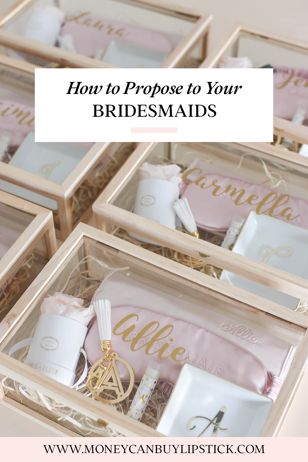 Bridesmaid Proposal Box | The InfluenceHer Collective | Pinterest ...