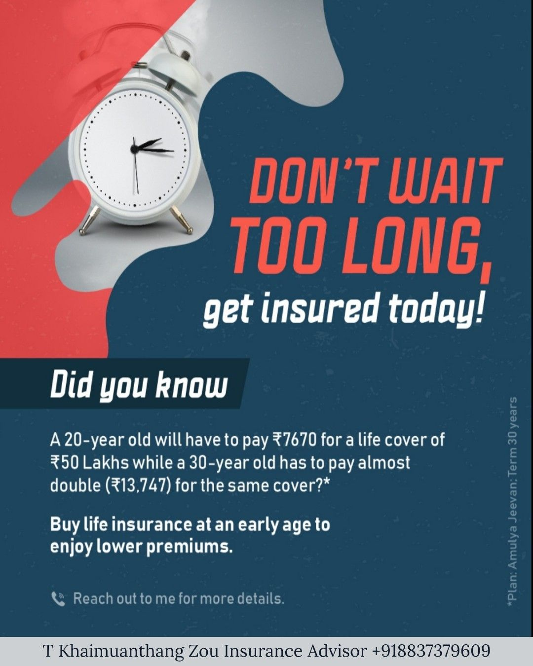 Yes Today Is The Right Time Buy Insurance At An Early Age To