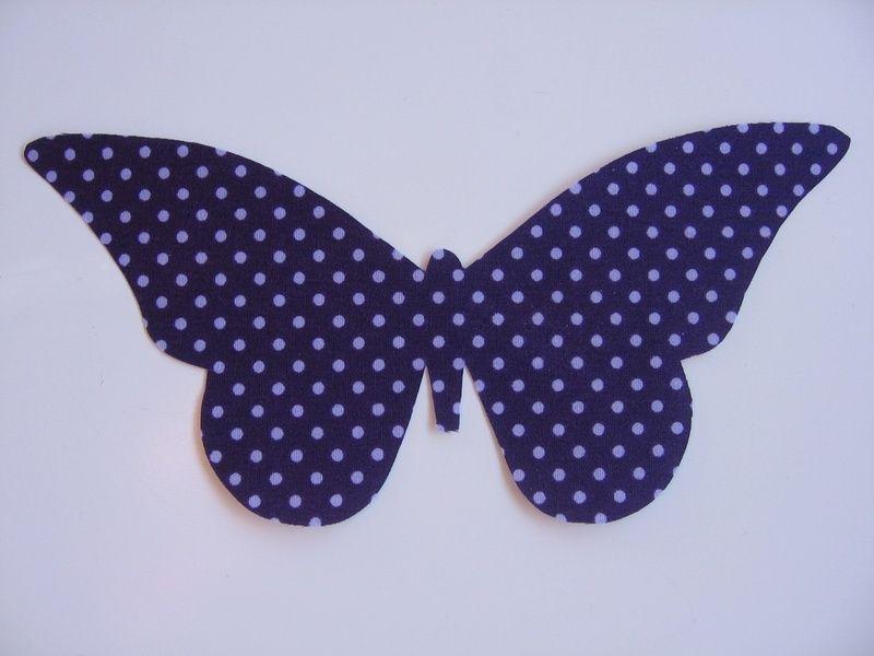 Bügelbilder - Bügelbild / Applikation Schmetterling groß - ein Designerstück von lapinette-1 bei DaWanda