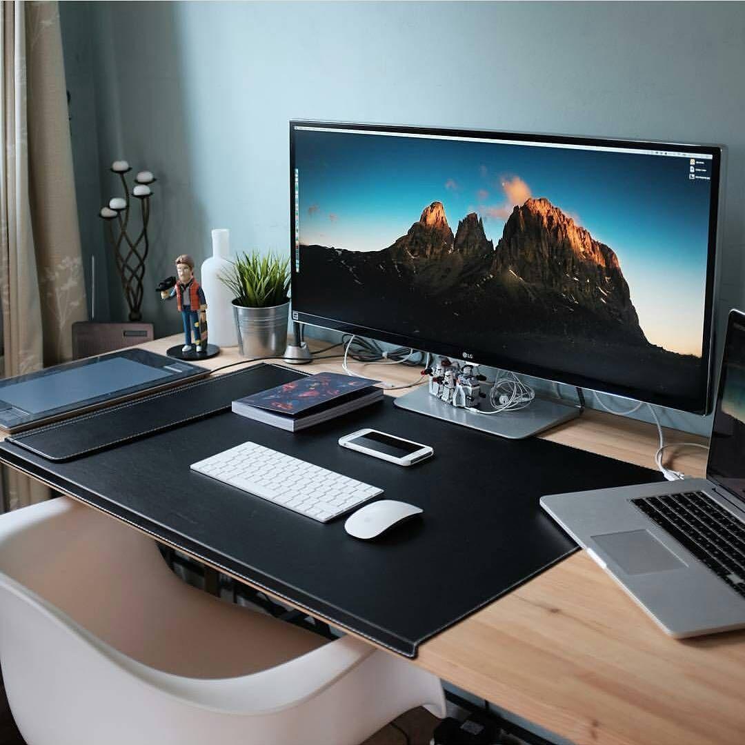 Desk Inspiration Isetups Foto Dan Video Instagram Home Office Setup Computer Desk Setup Office Setup