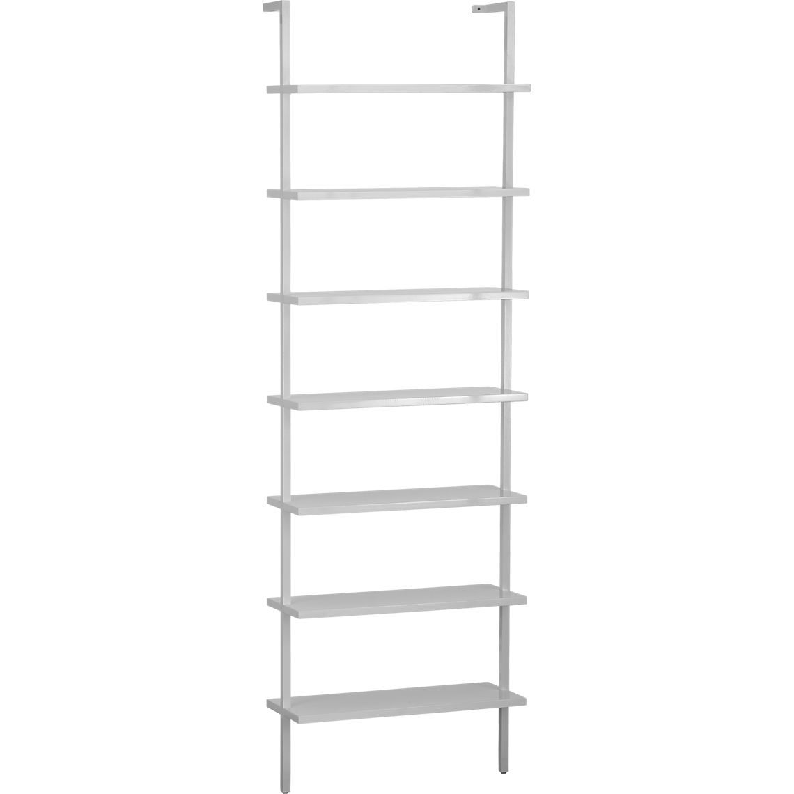 stairway white wall mounted bookcase | CB2