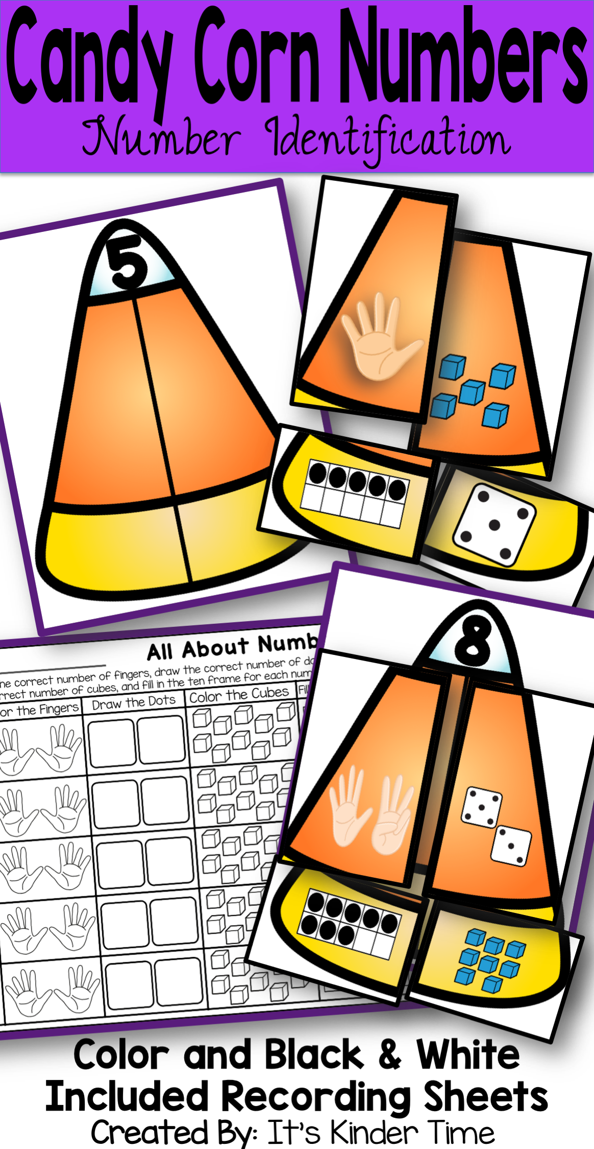 Candy Corn Themed Activity That Focuses On Number