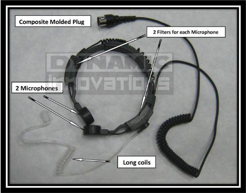 Throat Mic and Ear Piece for Harley Davidson CB and