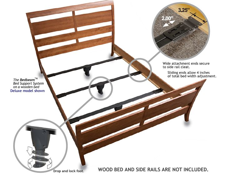 Full Bed Beam Support System Deluxe Bed Frame Legs Wooden King Size Bed Steel Bed Frame